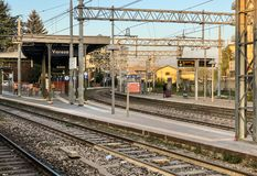Varese North train Station in the city center, it is one of the three railway stations of the It royalty free stock images