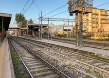 Varese North train Station in the city center, it is one of the three railway stations of the Italian city of Varese. stock image