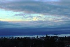 Varese opóźnionego wieczór panorama obrazy royalty free