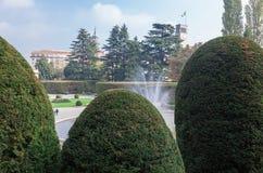 Varese OTTOBRE 2018 ITALIA - giardini pubblici del palazzo di Estense fotografia stock