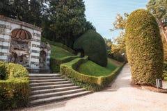 Varese OTTOBRE 2018 ITALIA - giardini pubblici del palazzo di Estense, a Varese immagine stock libera da diritti