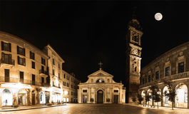 Varese, piazza San Vittore - Night view Stock Image