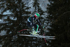 VARETTONI Silvano (ITA). VAL GARDENA, ITALY - DECEMBER 21:  VARETTONI Silvano (ITA) races down the Saslong competing in the Audi FIS Alpine Skiing World Cup MEN' Stock Image