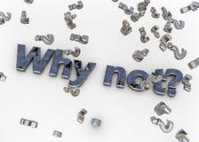 Varför inte? vektor illustrationer