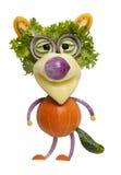 Varg som göras av grönsaker Arkivbilder