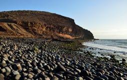 Vargas strand, kanariefågelöar royaltyfri bild
