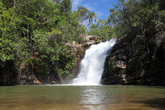 Vargem Grande falls near Pirenopolis Royalty Free Stock Photos