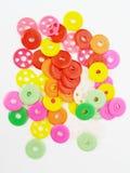 Variété colorée de boutons Photographie stock libre de droits
