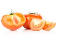 Variété crue fraîche de parcela de La de tomate d'isolement sur le blanc Photos libres de droits