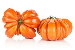 Variété crue fraîche de tomate de boeuf de tomate d'isolement sur le blanc photo libre de droits