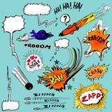 Variété d'éléments de conception de bande dessinée Image libre de droits