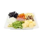 Variété d'ingrédients de nourriture photographie stock libre de droits