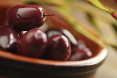 Variété d'olives photographie stock