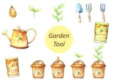 Variété d'outils de jardin Photo libre de droits