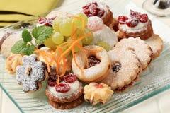 Variété de biscuits photographie stock