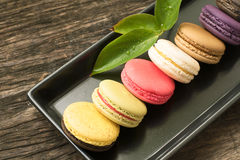 Variété de biscuits de macaron Photo stock