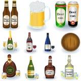 Variété de boissons Photos libres de droits