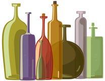 Variété de bouteilles Images libres de droits