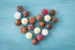 Variété de chocolats et de truffes Photographie stock