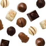 Variété de chocolats fabriqués à la main Images libres de droits