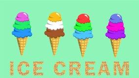 Variété de crème glacée  illustration de vecteur