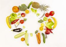 Variété de fruits juteux sur photos stock