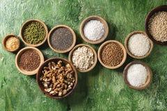 Variété de grains photographie stock libre de droits
