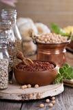 Variété de grains et de haricots Photos libres de droits
