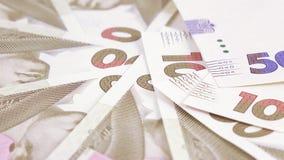 Variété de hryvnia d'Ukrainien de factures banque de vidéos
