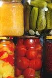 Variété de légumes marinés Photos libres de droits