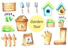 Variété de la trousse d'outils de jardin 2 Photographie stock