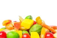Variété de mélange du fruit mariné IX Photographie stock libre de droits