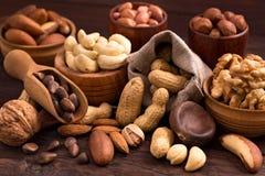 Variété de noix Image stock