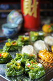 Variété de nourriture de Dim Sum photographie stock