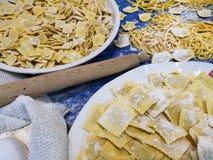 Variété de pâtes d'oeufs Photo libre de droits