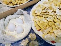 Variété de pâtes d'oeufs Photo stock