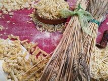 Variété de pâtes d'oeufs Images stock