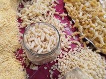 Variété de pâtes d'oeufs Images libres de droits