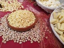 Variété de pâtes d'oeufs Image stock