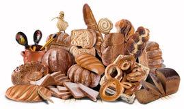 Variété de pain Images libres de droits
