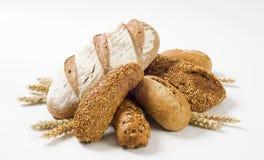 Variété de pain brun images stock