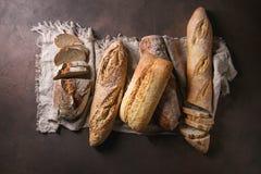 Variété de pain d'artisan Image stock
