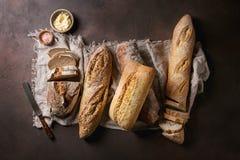 Variété de pain d'artisan Image libre de droits
