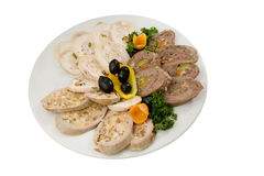 Variété de pain de viande Images libres de droits