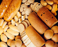 Variété de pains Photographie stock libre de droits