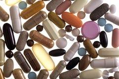 Variété de plan rapproché de médicament Image stock