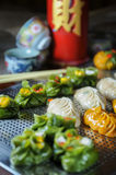 Variété de plan rapproché de nourriture de Dim Sum photo stock