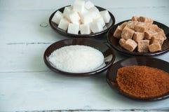 Variété de sucre Photo stock