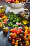 Variété de tamatoes frais de ferme photos libres de droits
