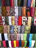 Variété de tissus images stock